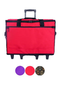 "23"" Wheeled Sewing Machine Carrier, TB23 - Red"