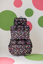 Load image into Gallery viewer, Wheeled Sewing Machine Carrier / Project Bag / Notions Bag Combo - Dottie