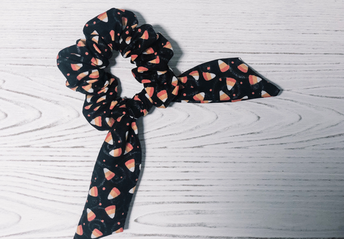 Candy Corn Top Knot Scrunchie