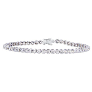 2.40CT TW Diamond Tennis Bracelet