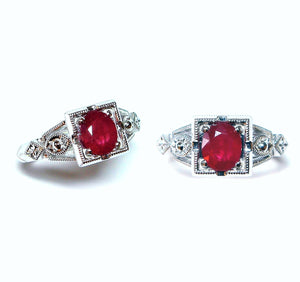 Antique Ruby Engagement Ring - Johnny Jewelry