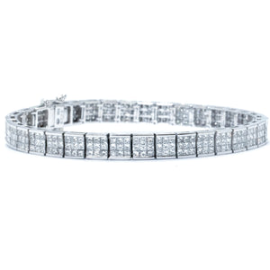 Illusion Set Princess Cut Diamond Bracelet