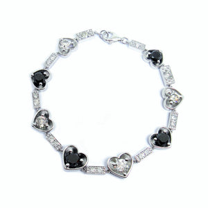 Black and White Diamond Bracelet - Johnny Jewelry