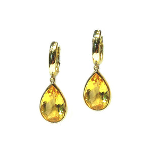 Citrine Drop Earrings - Johnny Jewelry