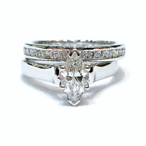 Classic Marquise Bridal Set - Johnny Jewelry
