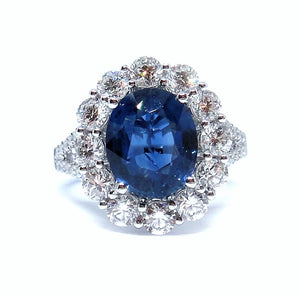 Classic Sapphire & Diamond Ring - Johnny Jewelry