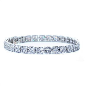 Cushion Shape Illusion Set Diamond Bracelet