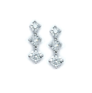 Trilogy Diamond Drop Earrings