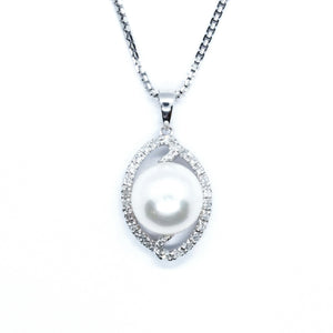 Infinity Freshwater Pearl w/ Diamond Halo Enhancer - Johnny Jewelry