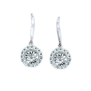 Diamond in Motion Drop Earrings