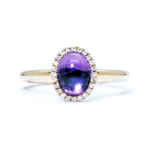Eye Candy Cabochon Amethyst Ring