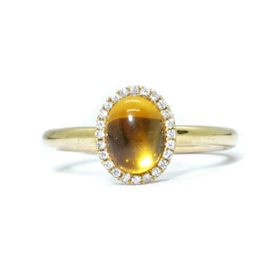 Eye Candy Cabochon Citrine Ring