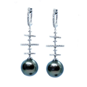 Galaxy South Sea Pearl & Diamond Earrings