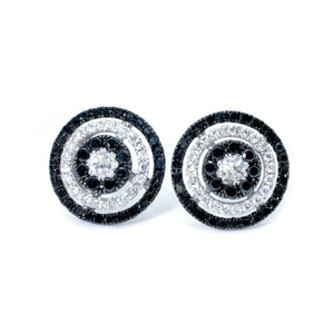 Galaxy Black & White Diamond Earrings - Johnny Jewelry