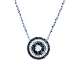 Galaxy Black & White Diamond Necklace