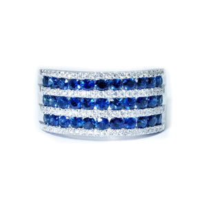 Diva Sapphire and Diamond Band - Johnny Jewelry