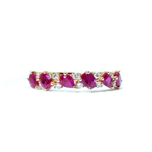 Dainty Ruby & Diamond Ring