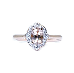 Gatsby Morganite & Diamond Ring - Johnny Jewelry
