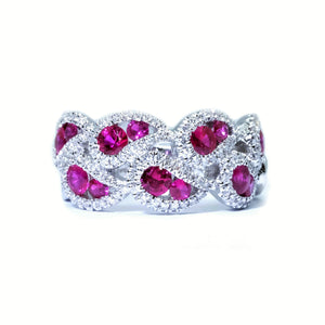 Droplet Ruby & Diamond Ring - Johnny Jewelry