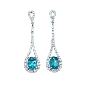 Droplet Apatite & Diamond Earrings