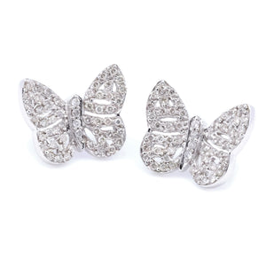 Lacy Butterfly Diamond Earrings - Johnny Jewelry