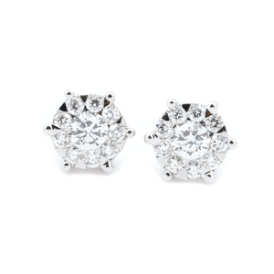 Invisibly Set Diamond Studs 5/8CT TW - Johnny Jewelry