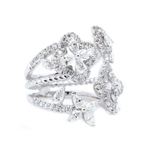 Full Bloom Fancy Cut Diamond Ring - Johnny Jewelry