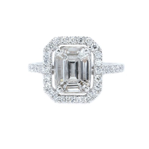 Diva Mosaic Emerald Cut Diamond Ring