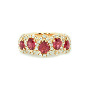 Crown Ruby & Diamond Ring