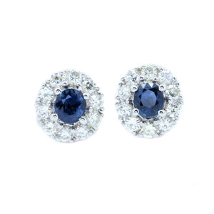 Classic Sapphire & Diamond Earrings
