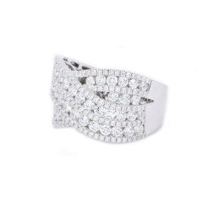 Micro Pave Criss Cross Diamond Ring