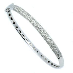 5mm Pave Diamond Bangle