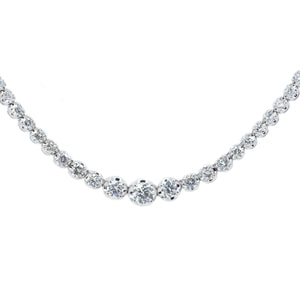 Graduated Diamond Tennis Choker Necklace
