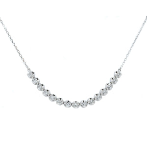 Curved Flexi Link Diamond Necklace