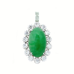 Diva Jade & Diamond Two-Way Ring & Pendant
