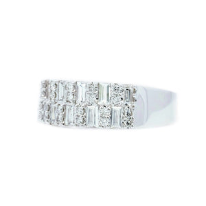 Art Deco Baguette & Round Diamond Band