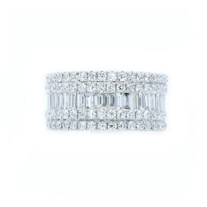 Diva Baguette & Round Diamond Band