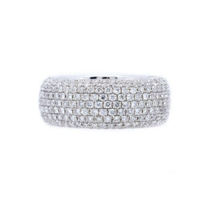 Micro Pave 8mm Diamond Ring