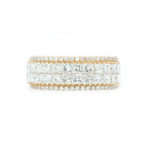 Princess Cut Invisible Set Diamond Anniversary Band