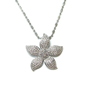 Diamond Bauhinia Pendant - Johnny Jewelry