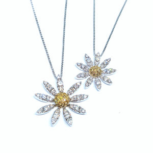 Diamond Daisy Pendant - Johnny Jewelry