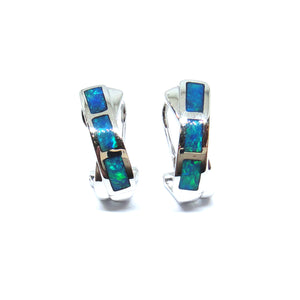 Inlaid Opal Earrings - Johnny Jewelry
