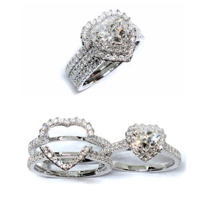 Heart Halo with Ring Guard - Johnny Jewelry