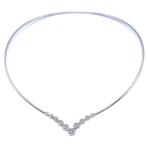 Flexible Diamond Neck Ring - Johnny Jewelry