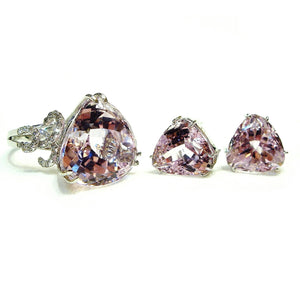 Kunzite & Diamond Set