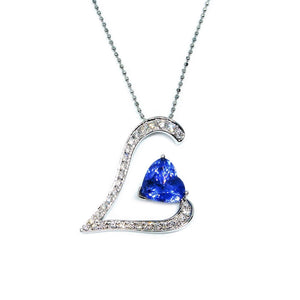Love Tanzanite Pendant - Johnny Jewelry