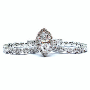 Marquise Cut Bridal Set - Johnny Jewelry