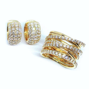 Micro Pave Diamond Set - Johnny Jewelry