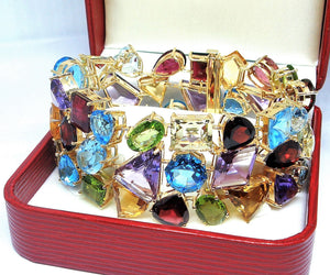Mosaic Multi Gemstone Bracelet - Johnny Jewelry