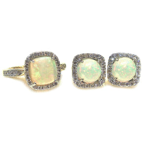 Opal & Diamond Set - Johnny Jewelry